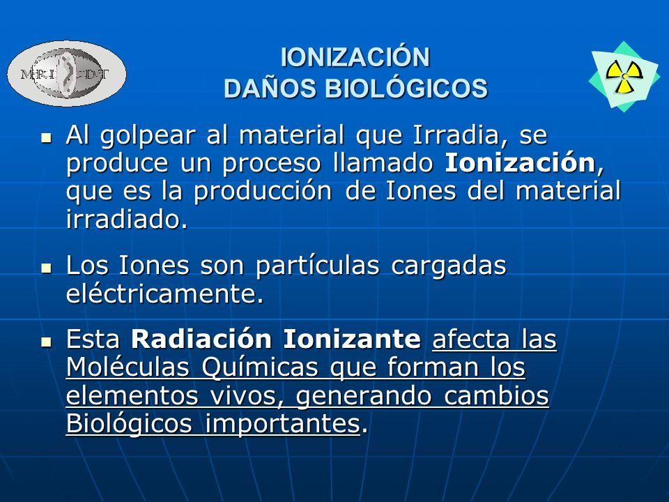 IONIZACIÓN DAÑOS BIOLÓGICOS