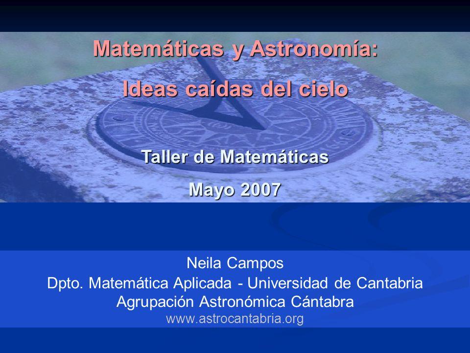 Matemáticas y Astronomía: