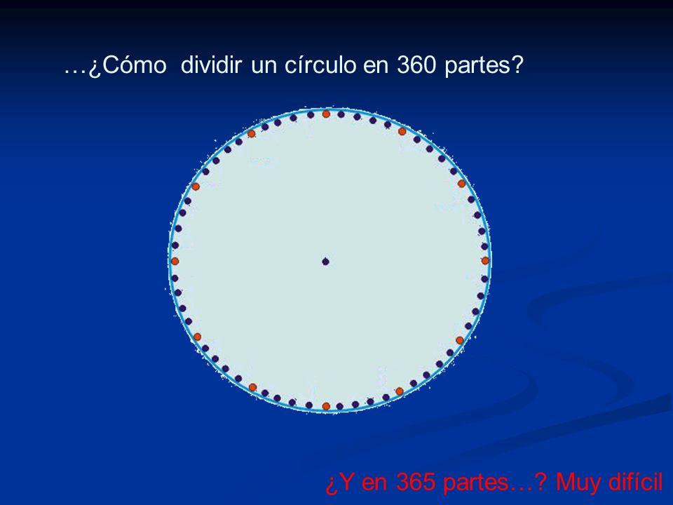 …¿Cómo dividir un círculo en 360 partes