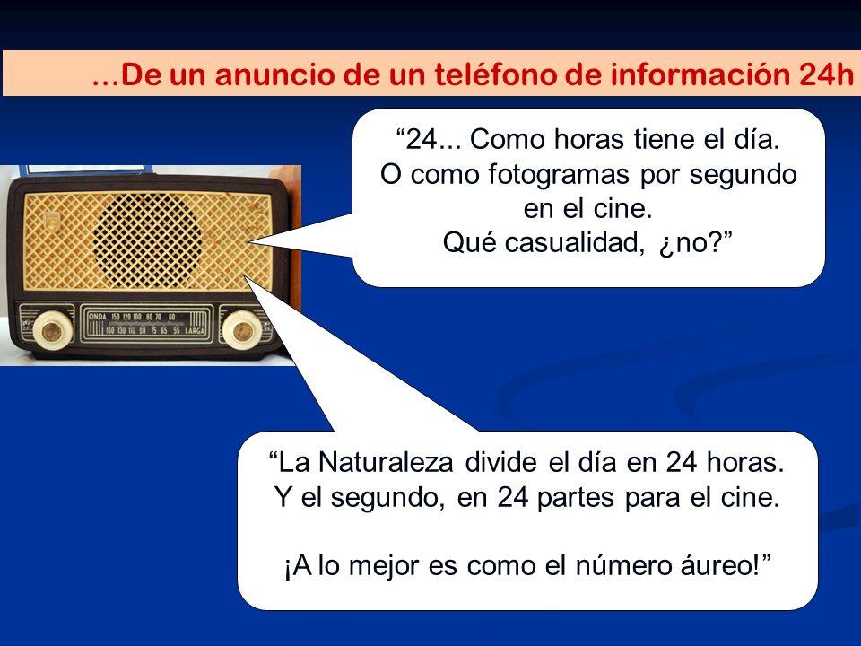 ...De un anuncio de un teléfono de información 24h
