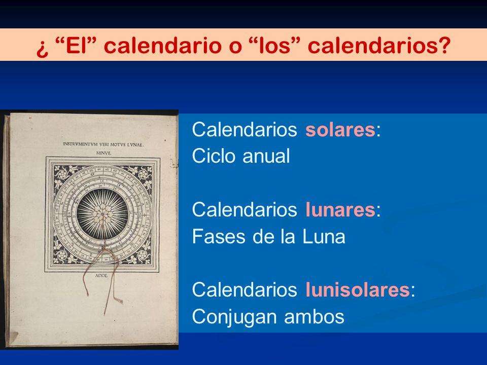 ¿ El calendario o los calendarios