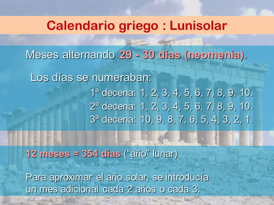 Calendario griego : Lunisolar