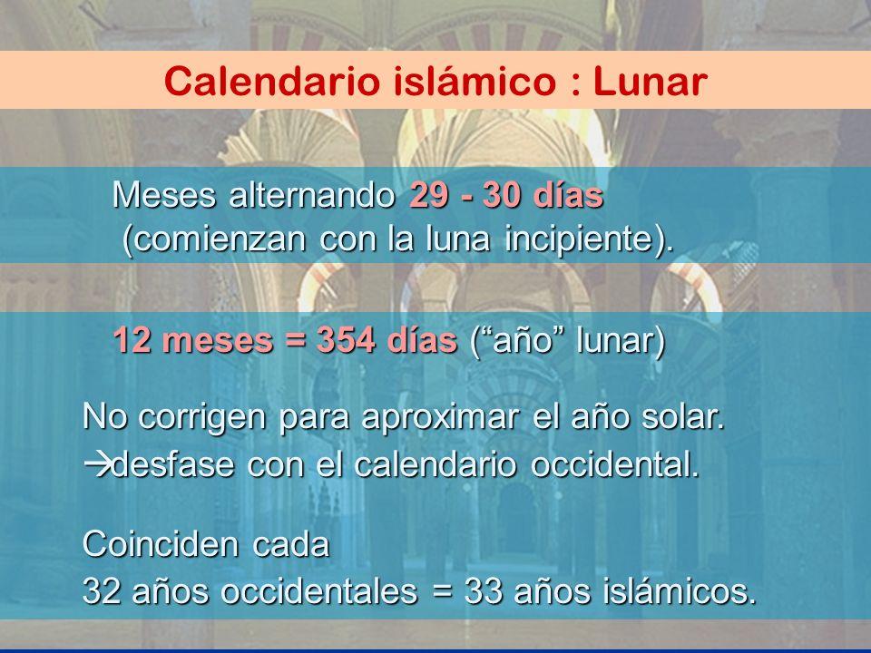 Calendario islámico : Lunar