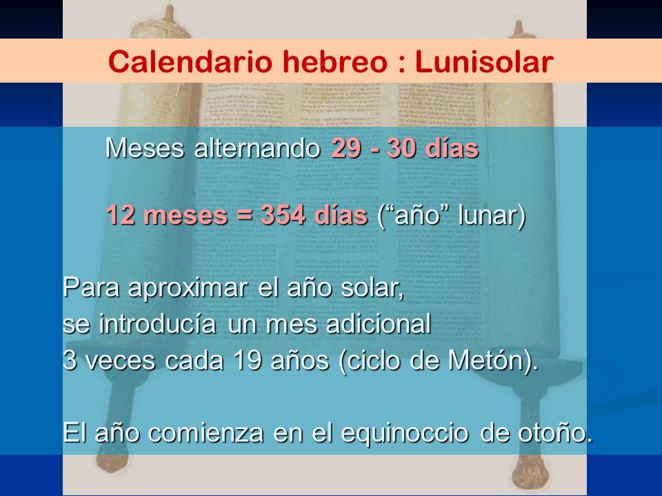 Calendario hebreo : Lunisolar