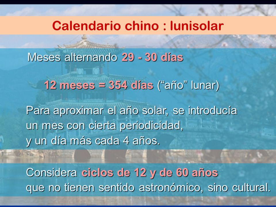 Calendario chino : lunisolar