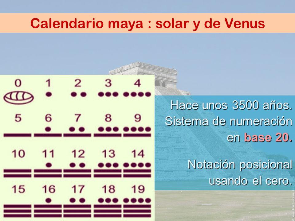 Calendario maya : solar y de Venus
