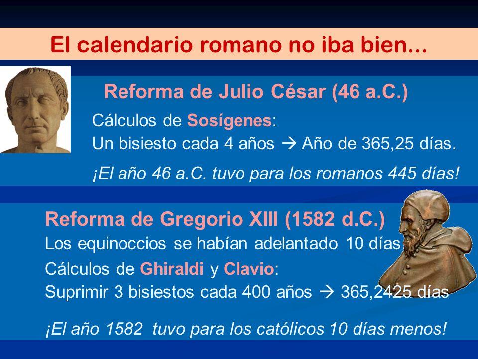 El calendario romano no iba bien...
