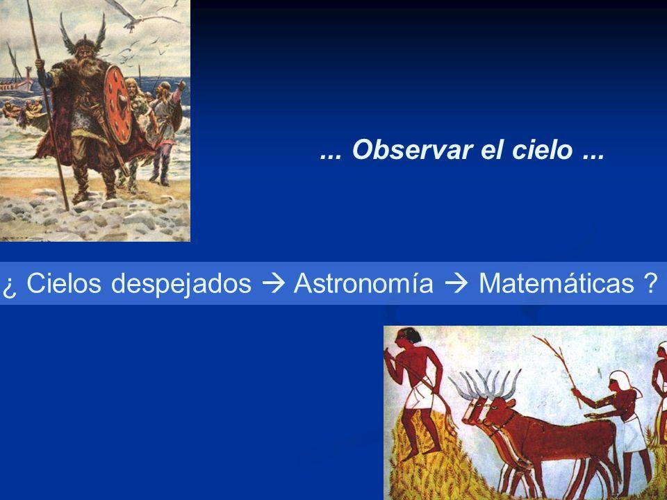 ... Observar el cielo ... ¿ Cielos despejados  Astronomía  Matemáticas