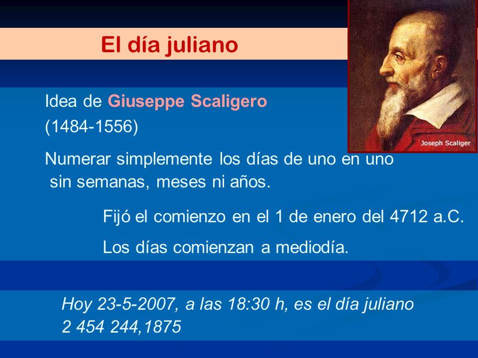 El día juliano Idea de Giuseppe Scaligero (1484-1556)