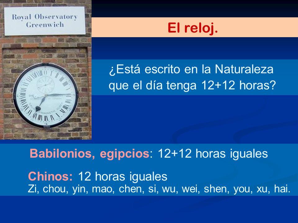 El reloj. ¿Está escrito en la Naturaleza que el día tenga 12+12 horas