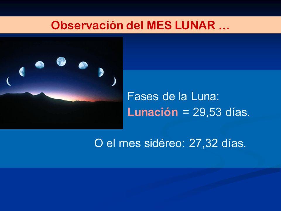Observación del MES LUNAR ...