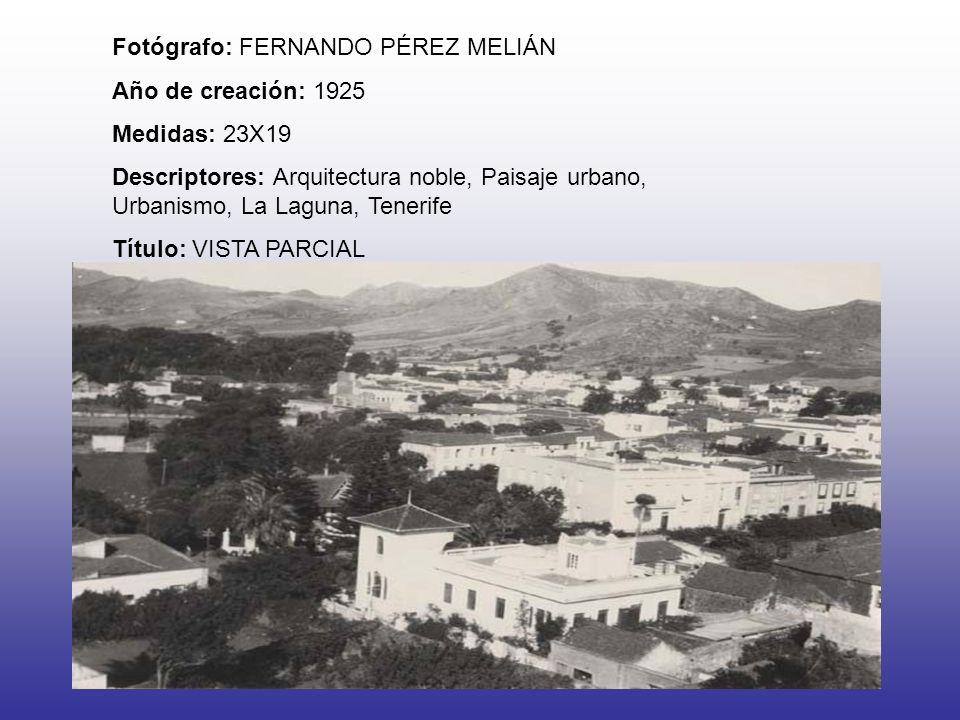Fotógrafo: FERNANDO PÉREZ MELIÁN