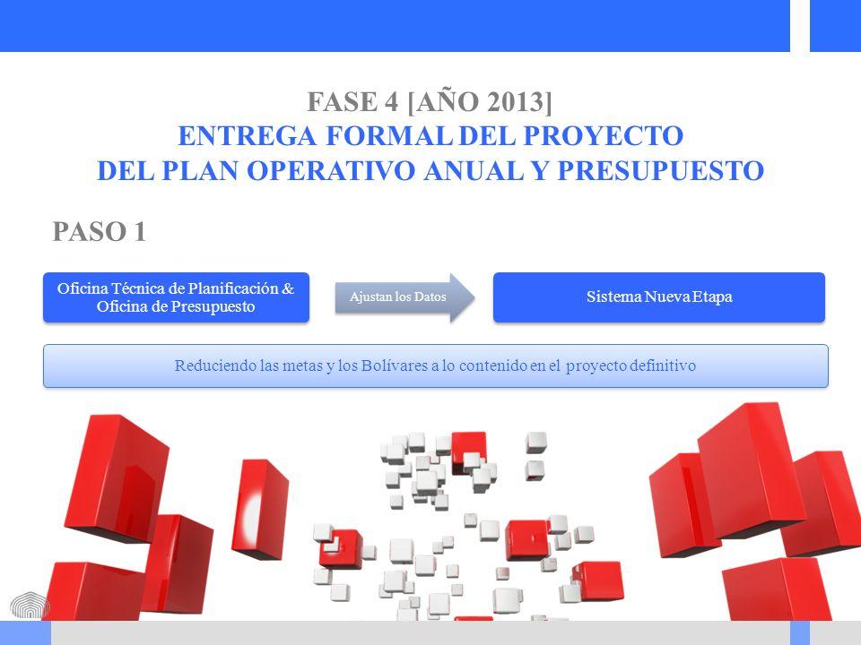 ENTREGA FORMAL DEL PROYECTO DEL PLAN OPERATIVO ANUAL Y PRESUPUESTO