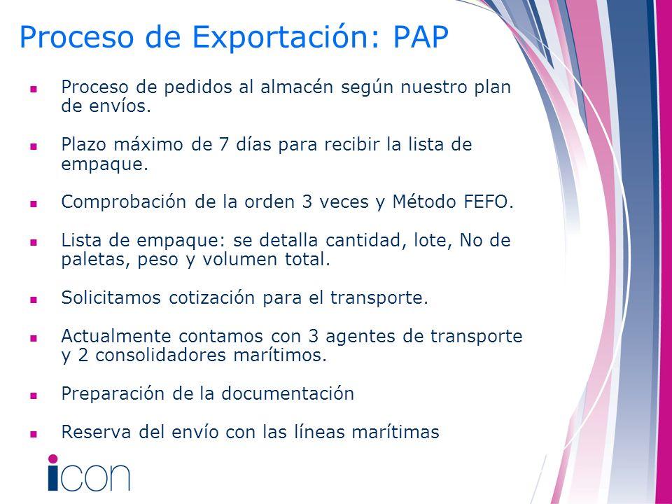 Proceso de Exportación: PAP