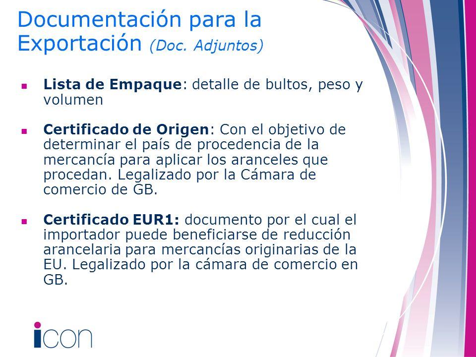 Documentación para la Exportación (Doc. Adjuntos)