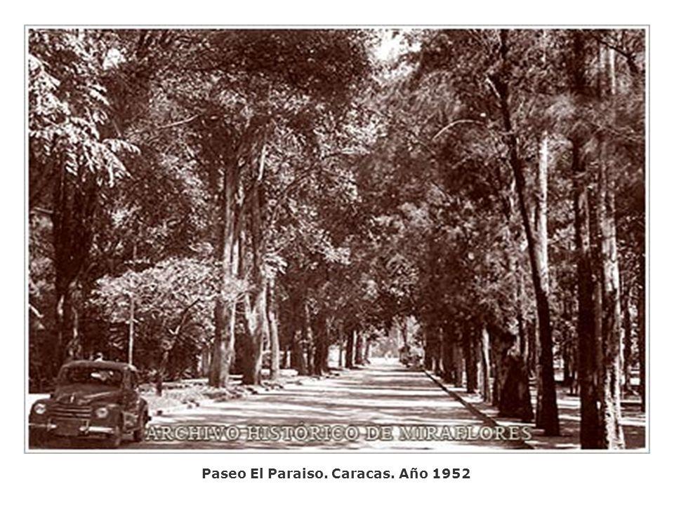 Paseo El Paraiso. Caracas. Año 1952