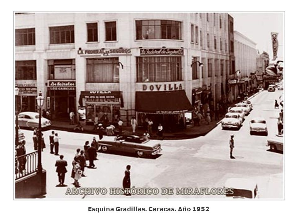 Esquina Gradillas. Caracas. Año 1952