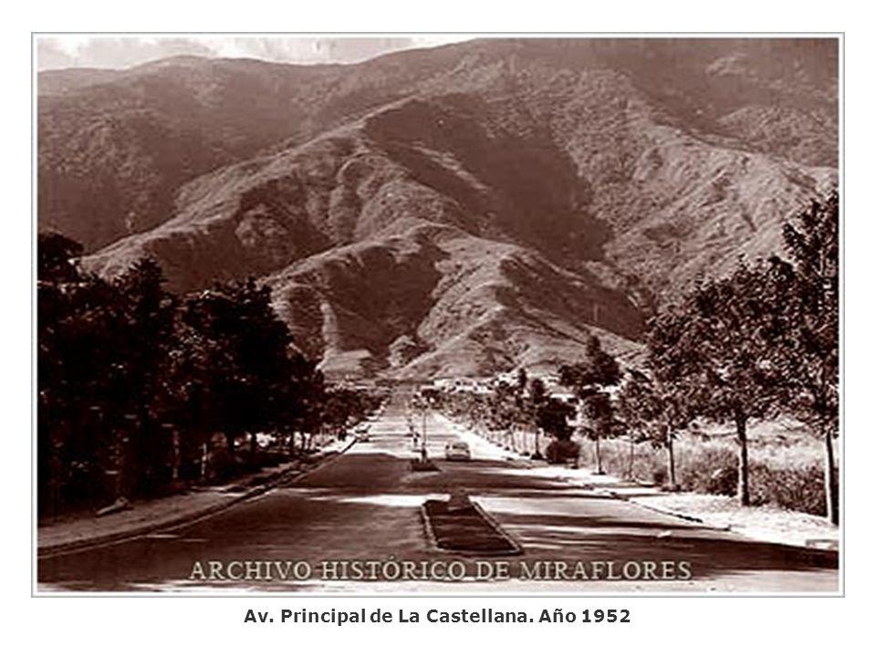 Av. Principal de La Castellana. Año 1952