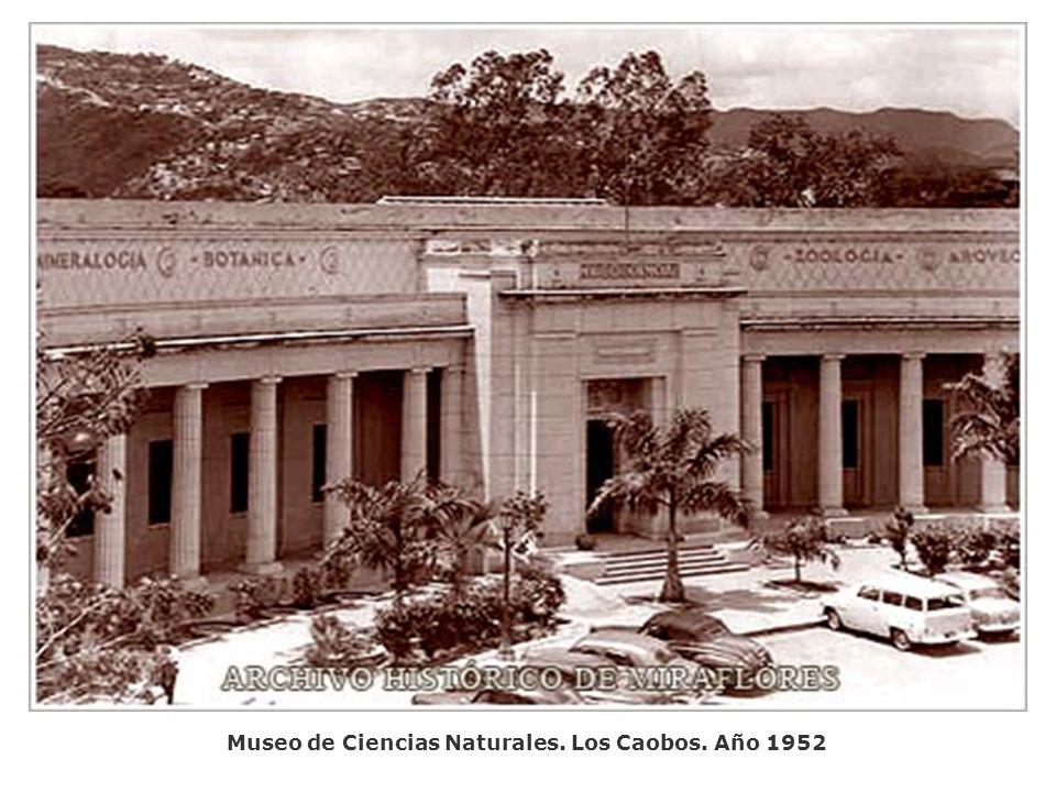 Museo de Ciencias Naturales. Los Caobos. Año 1952