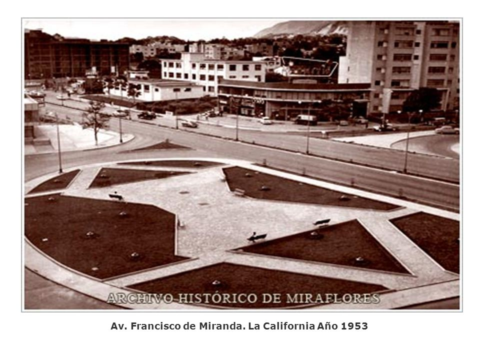 Av. Francisco de Miranda. La California Año 1953