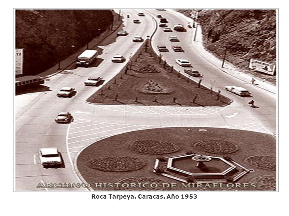 Roca Tarpeya. Caracas. Año 1953