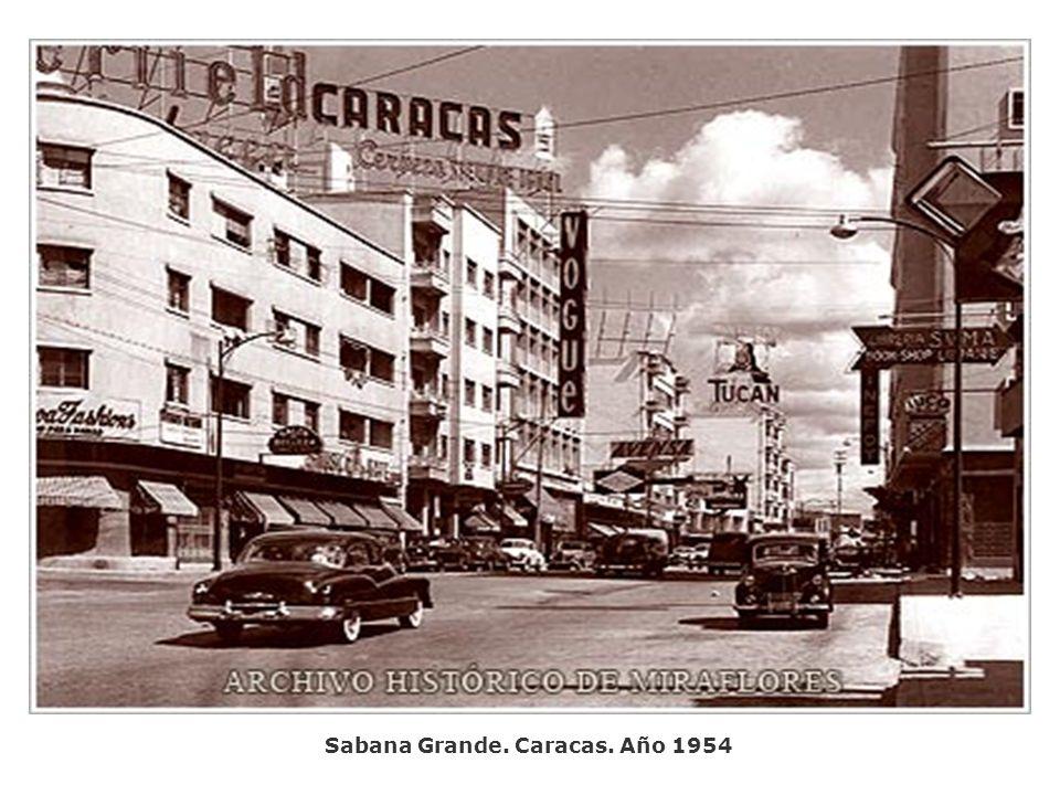 Sabana Grande. Caracas. Año 1954