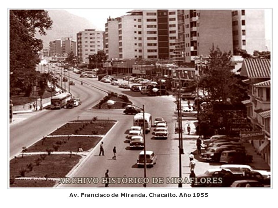 Av. Francisco de Miranda. Chacaito. Año 1955