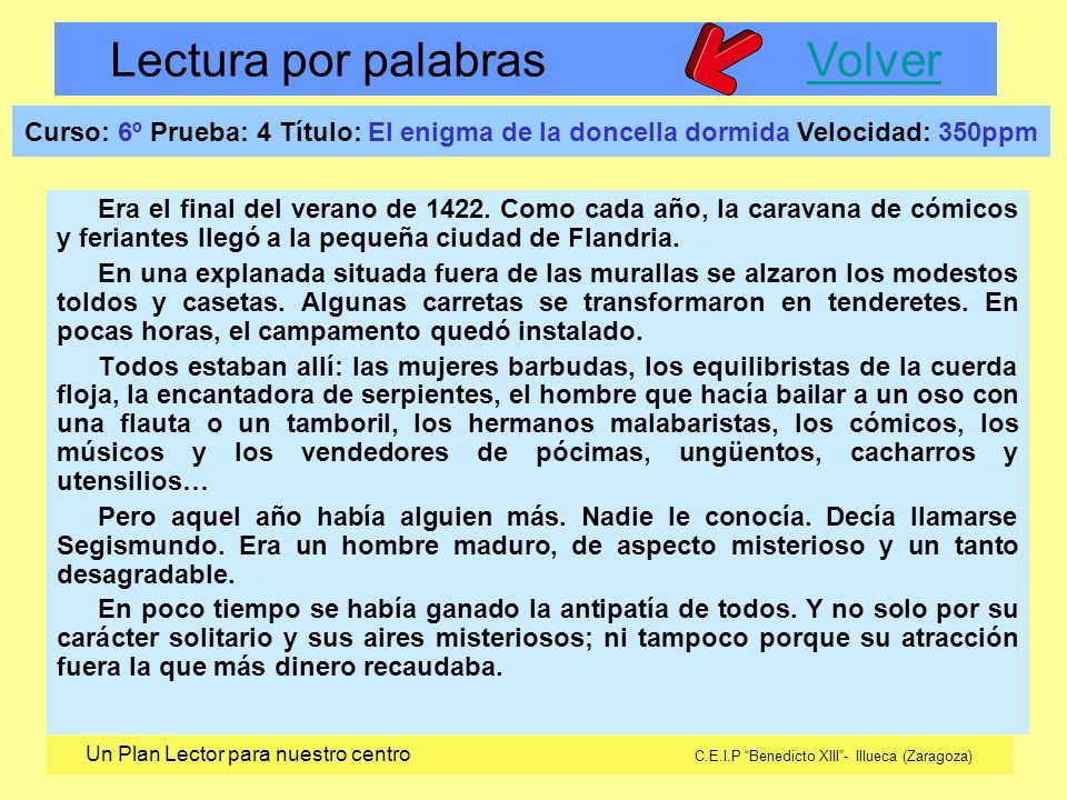Curso: 6º Prueba: 3 Título: La herencia del cura Velocidad: 350ppm