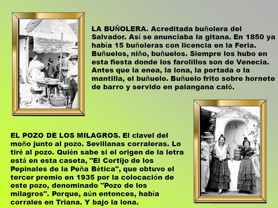 LA BUÑOLERA. Acreditada buñolera del Salvador