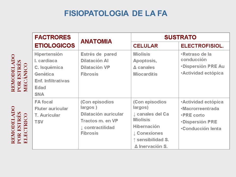 FISIOPATOLOGIA DE LA FA