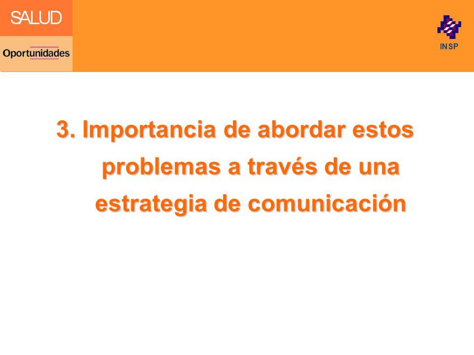 3. Importancia de abordar estos problemas a través de una estrategia de comunicación