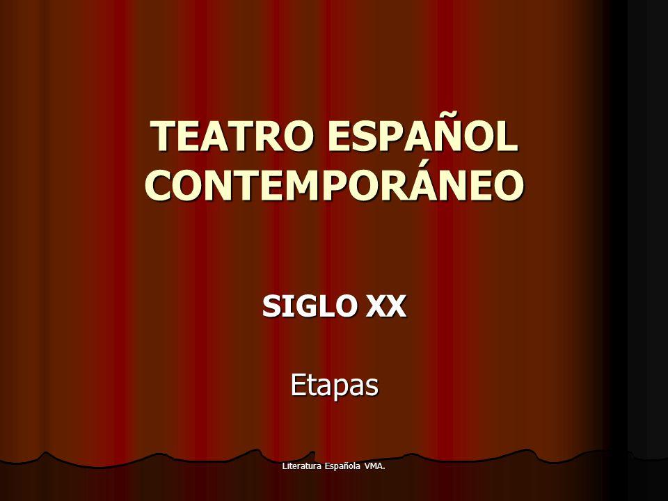 TEATRO ESPAÑOL CONTEMPORÁNEO