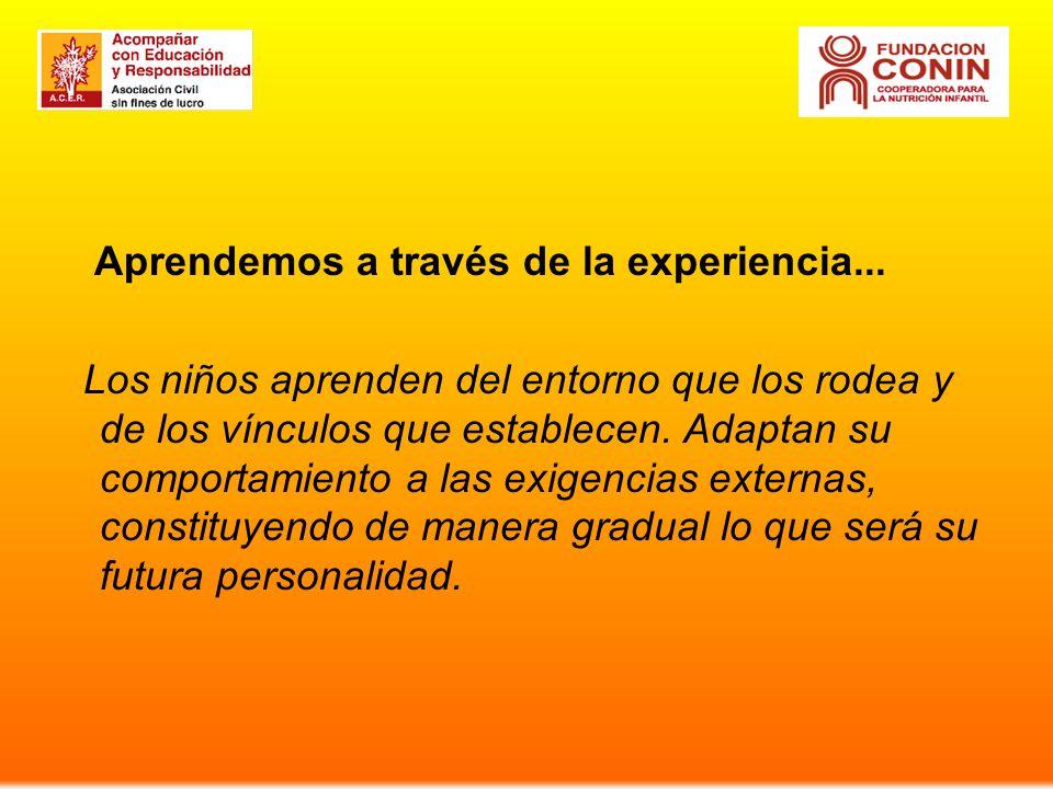 Aprendemos a través de la experiencia...