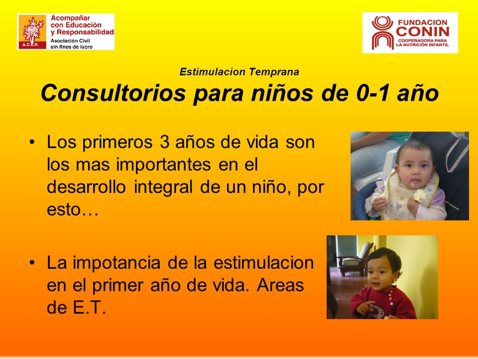 Estimulacion Temprana Consultorios para niños de 0-1 año