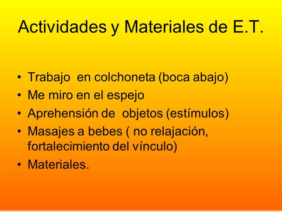 Actividades y Materiales de E.T.