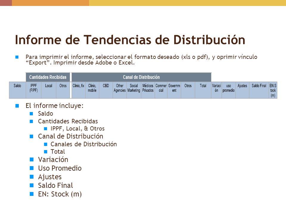 Informe de Tendencias de Distribución