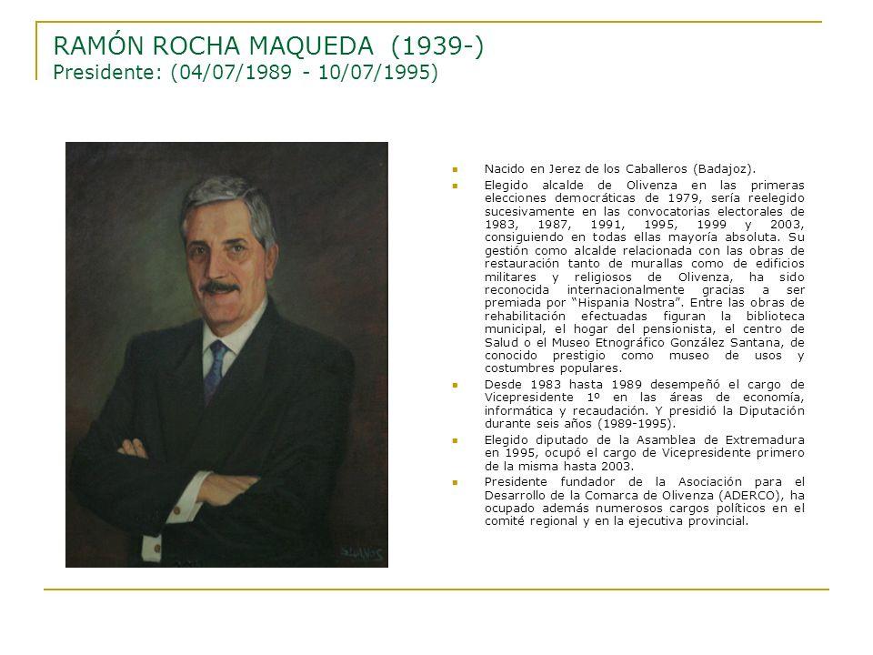 RAMÓN ROCHA MAQUEDA (1939-) Presidente: (04/07/1989 - 10/07/1995)