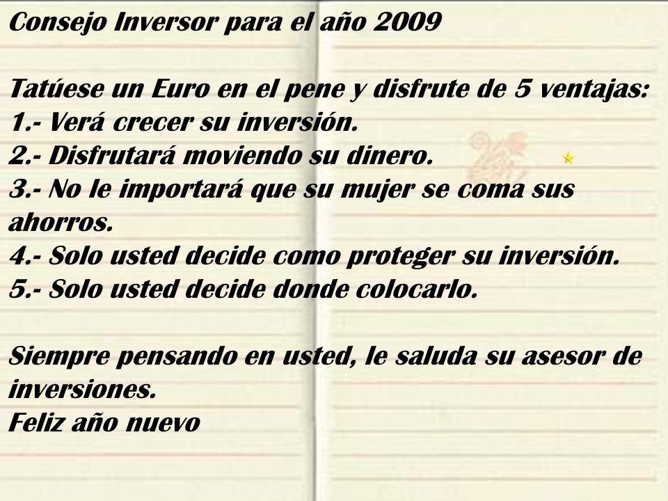 Consejo Inversor para el año 2009