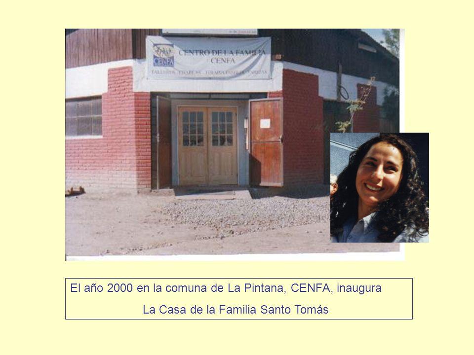 El año 2000 en la comuna de La Pintana, CENFA, inaugura
