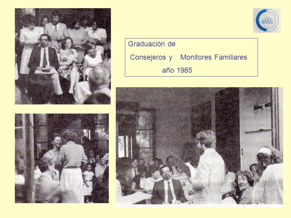Graduación de Consejeros y Monitores Familiares año 1985