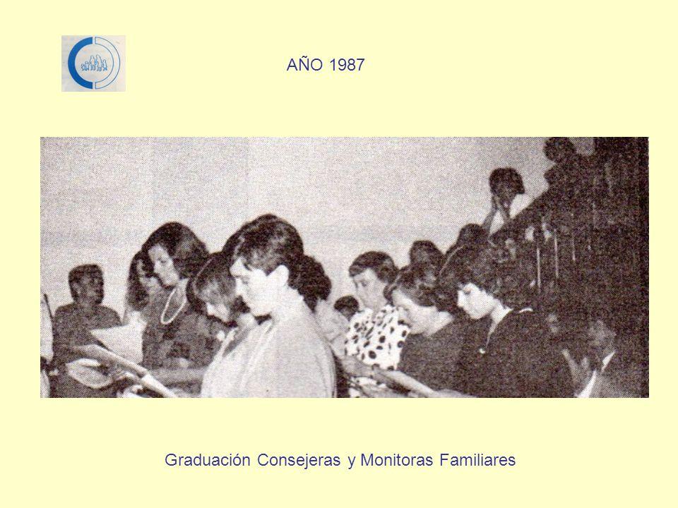 AÑO 1987 Graduación Consejeras y Monitoras Familiares