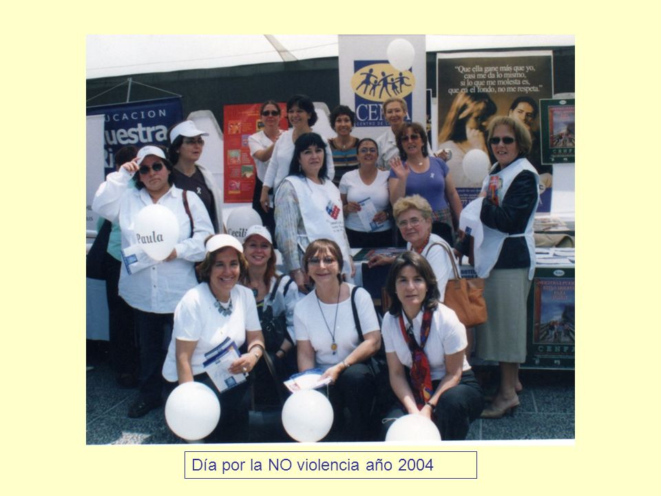 Día por la NO violencia año 2004