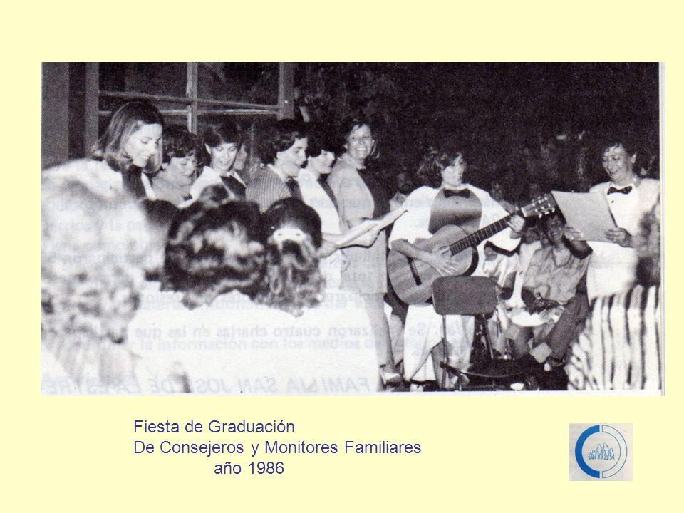 Fiesta de Graduación De Consejeros y Monitores Familiares año 1986