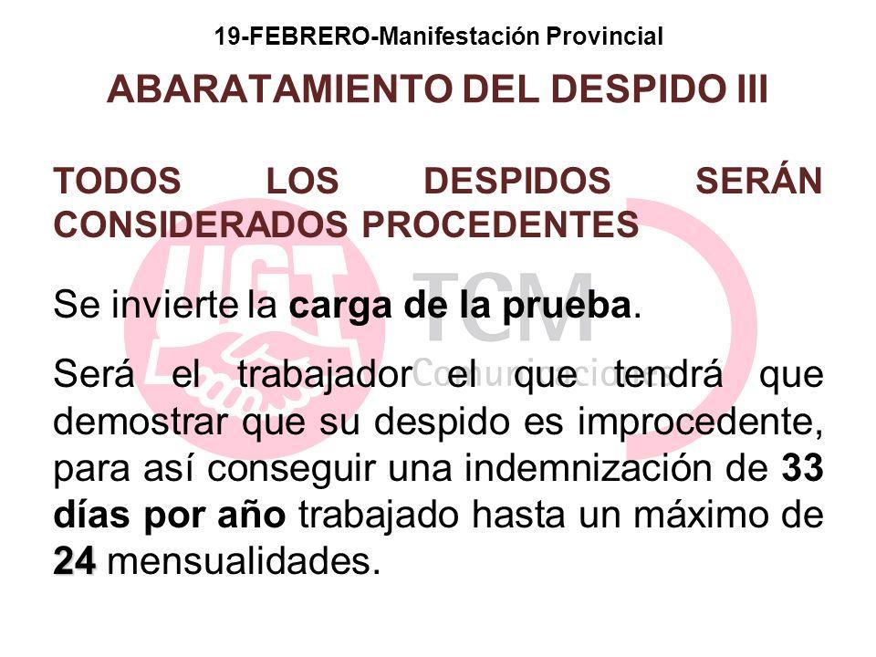 19-FEBRERO-Manifestación Provincial ABARATAMIENTO DEL DESPIDO III