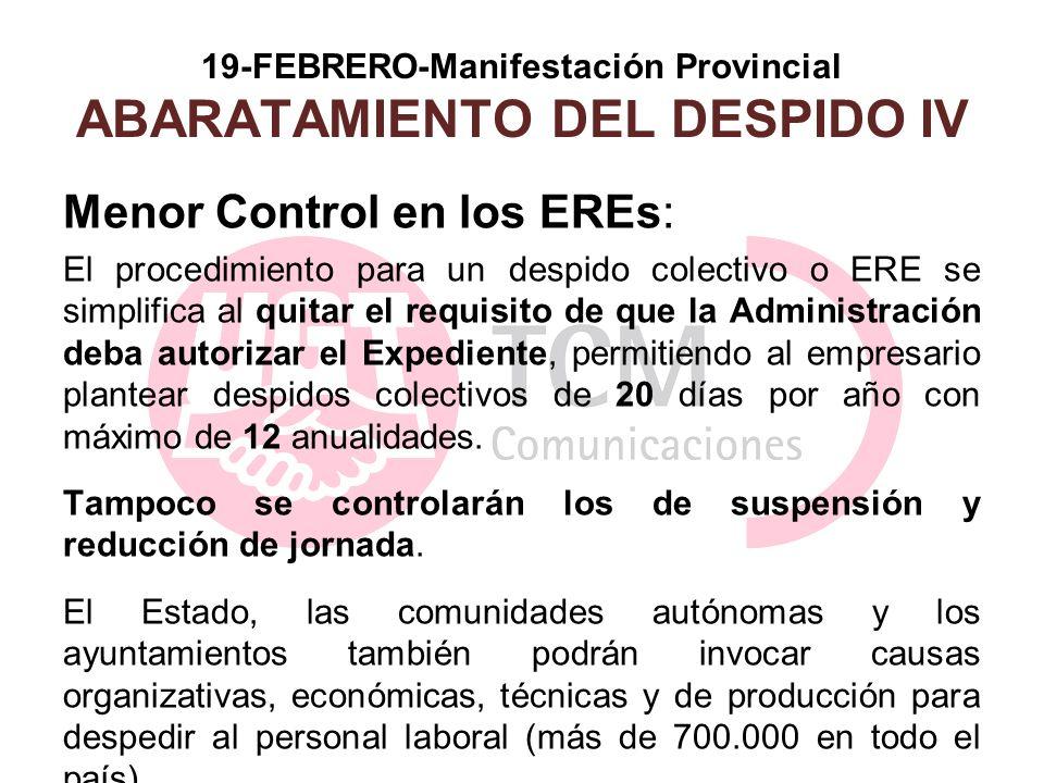 19-FEBRERO-Manifestación Provincial ABARATAMIENTO DEL DESPIDO IV