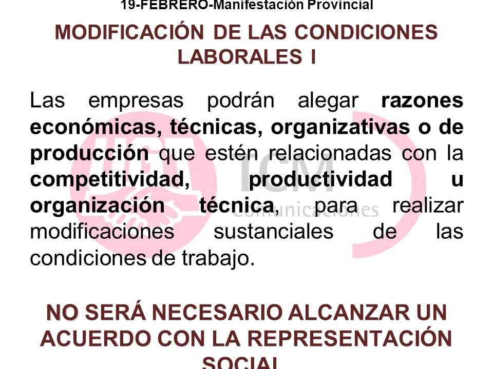 19-FEBRERO-Manifestación Provincial MODIFICACIÓN DE LAS CONDICIONES LABORALES I