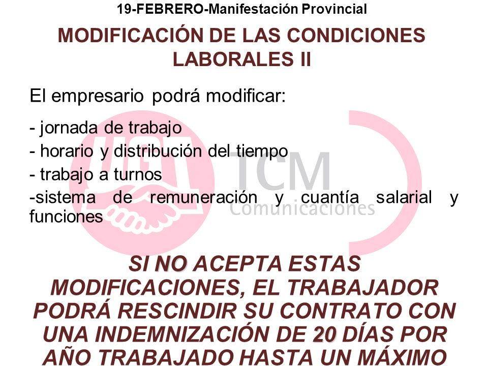 19-FEBRERO-Manifestación Provincial MODIFICACIÓN DE LAS CONDICIONES LABORALES II