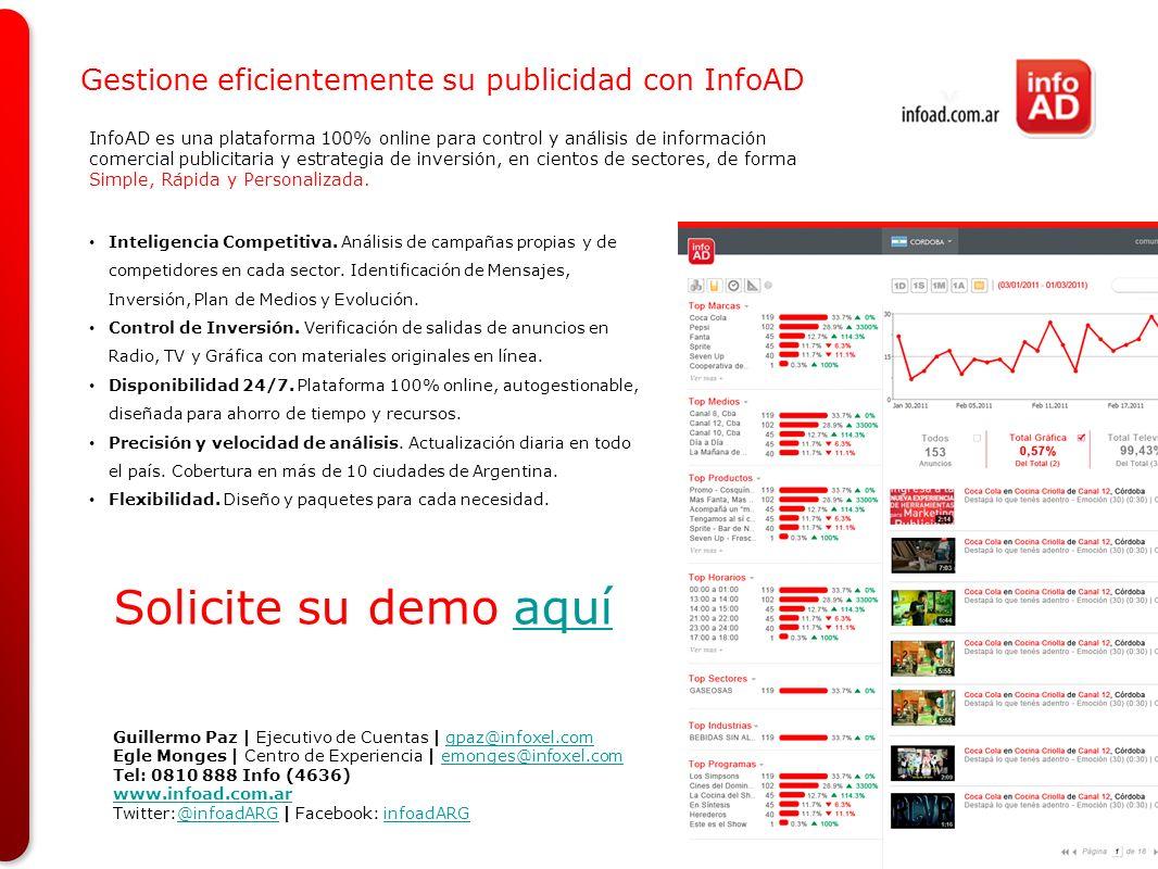 Solicite su demo aquí Gestione eficientemente su publicidad con InfoAD
