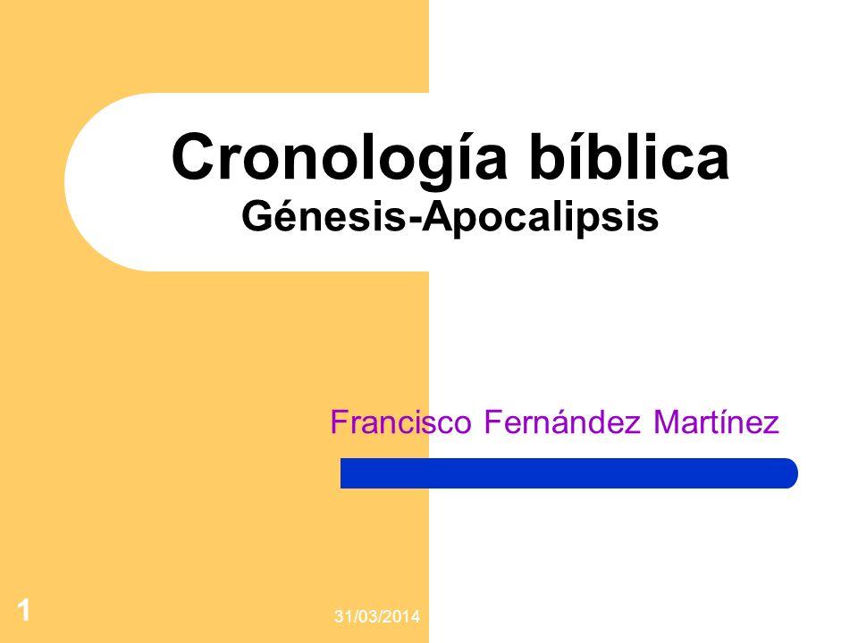 Cronología bíblica Génesis-Apocalipsis