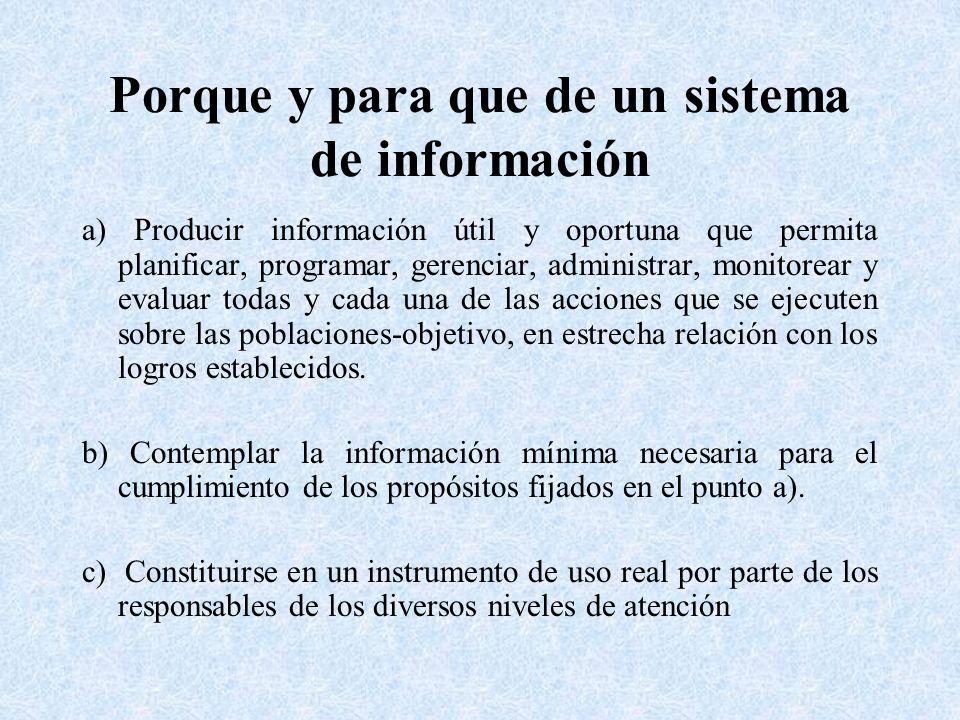 Porque y para que de un sistema de información